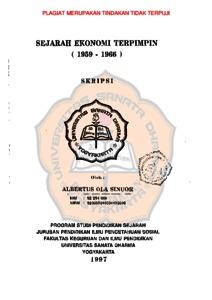 Sejarah Ekonomi Terpimpin 1959 1966 Usd Repository